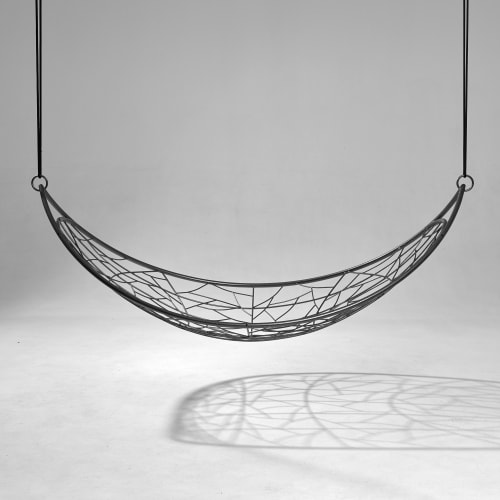 Melon Hanging Swing Seat - Twig Pattern | Chairs by Studio Stirling