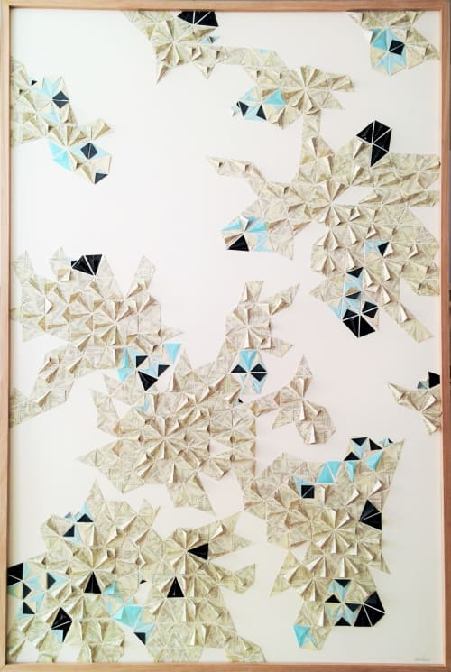Art & Wall Decor by Karine Demers Artiste seen at Private Residence, Montreal - Pliage 25