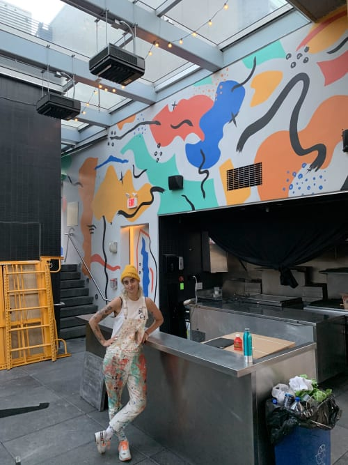 Murals by Sarah Lillenberg seen at Selina Chelsea New York City, New York - Selina Hotel Mural