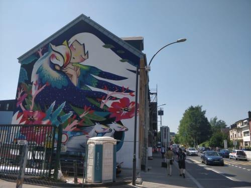 Nicte-Noche | Street Murals by Julieta XLF
