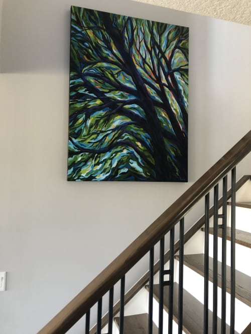Paintings by Heather Kinahan Art seen at Private Residence, Calgary - Within the Treetops