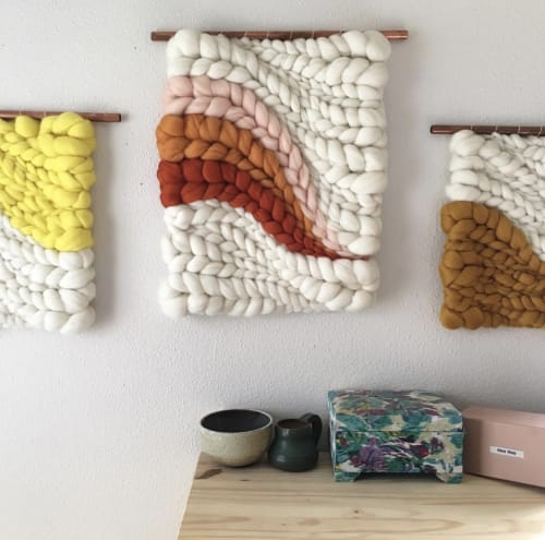 Wall Hangings by Jeannie Helzer at Private Residence, Portland - Trio trio