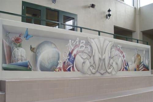 Murals by Brenda Mauney Councill seen at Ocean Reef Club, Key Largo - Wall Mural