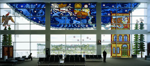 Art & Wall Decor by Cappy Thompson seen at Seattle-Tacoma International Airport, Seattle - I Was Dreaming of Spirit Animals