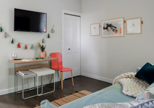 Art & Wall Decor by Emma Balder seen at East 4th Street, Covington - Fiber Paintings for Airbnb