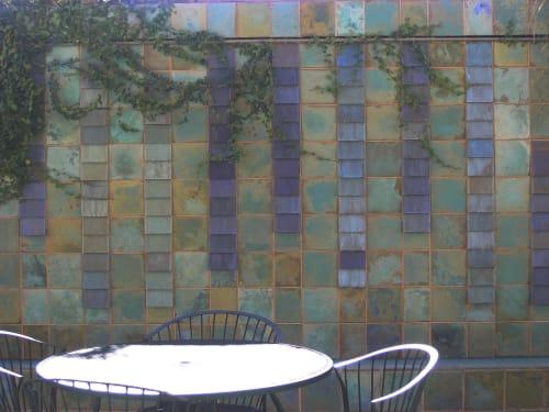 Tiles by Pasadena Craftsman Tile seen at All Nations Church, Los Angeles - All Nations Wall