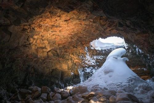 Lighting by KSLD | EFLA Lighting Design seen at The Lava Tunnel - The Lava Tunnel, Raufarhólshellir