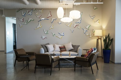 "Murals by ANTLRE - Hannah Sitzer seen at Google RWC SEA6, Redwood City - ""Birds"""