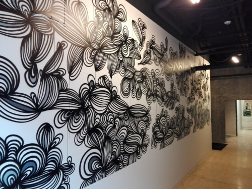 Murals by KEF! at The Commerce Building, Baton Rouge - Interior Mural