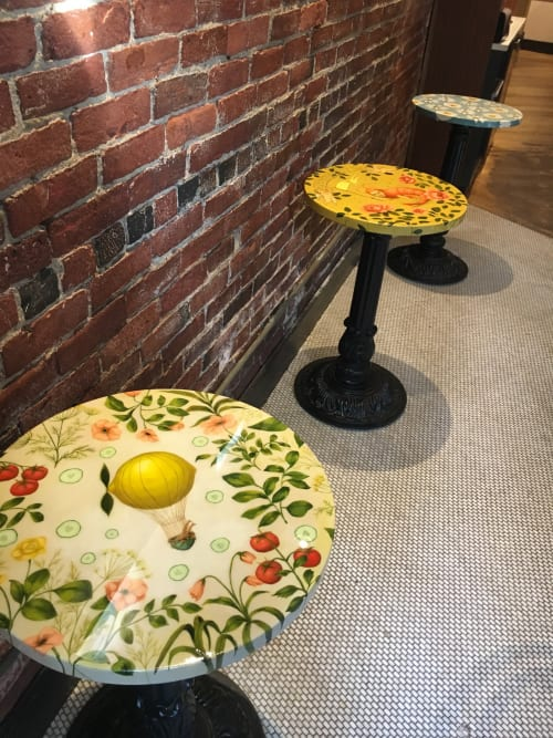 Tables by Victoria Maxfield seen at Pavement Coffeehouse, Boston - Pavement Tables