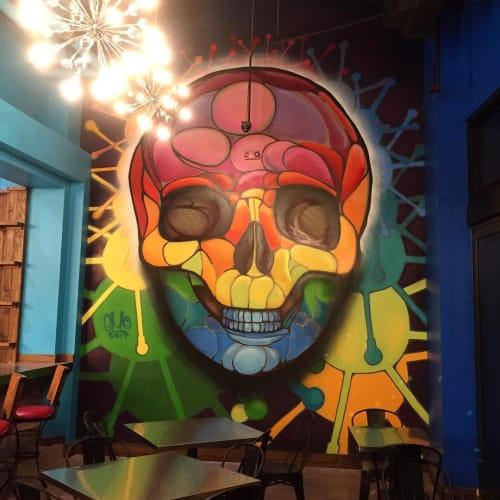 Murals by Eduardo Mendieta (Emo) seen at Cabo Flats, Doral - Indoor Mural