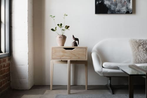 Tables by Lahoma seen at Wescover Gallery at West Coast Craft SF 2019, San Francisco - Bedside Tables