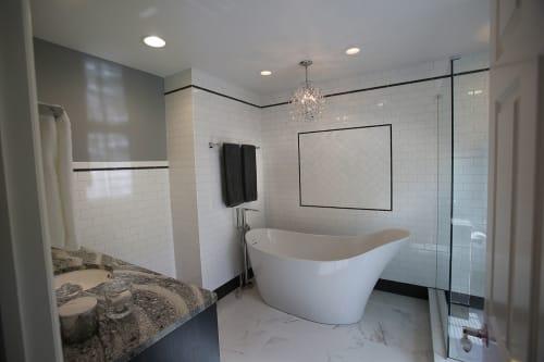 Interior Design by Dan Davis Design seen at Private Residence, Birmingham - Black and White Bathroom