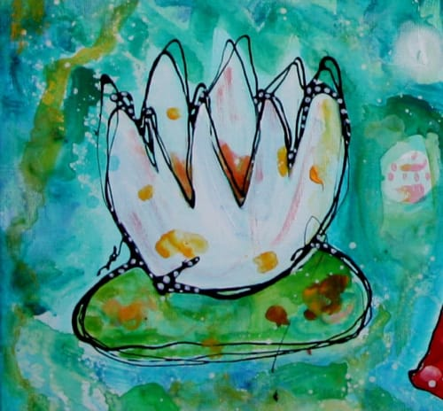Paintings by Esther Ziher-Ginczinger (e-ster-art) seen at Private Residence, Perth - You're the cherry on my ice-cream