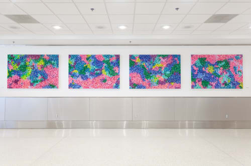 Paintings by Gianna D seen at Miami International Airport, Miami - Touch from Above
