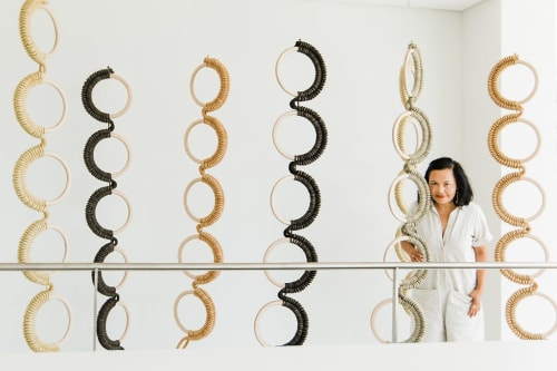 Sculptures by Windy Chien seen at College of Marin, Kentfield - Ten Spinal Columns