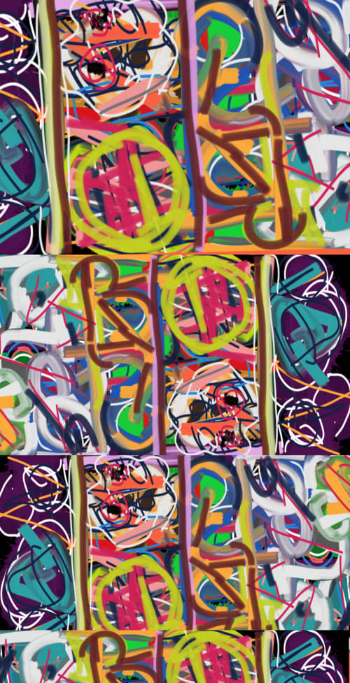 Paintings by Darren johnson seen at Private Residence, Los Angeles - Animal crackers