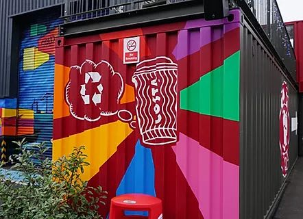 Street Murals by C-That seen at CRATE, Loughton - Mural