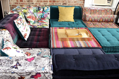 Couches & Sofas by Lena Lalvani seen at Chelsea Live/Work Loft Space, Manhattan, New York - Custom Floor Cushions