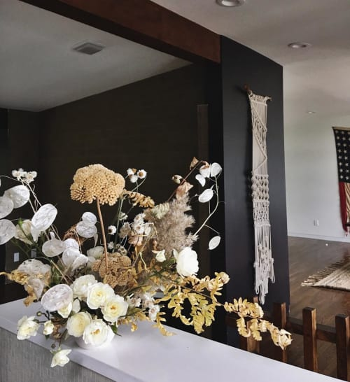 Floral Arrangements by Rachael Ann Lunghi of Siren Floral Co seen at Private Residence, Salt Lake City - Floral Arrangement