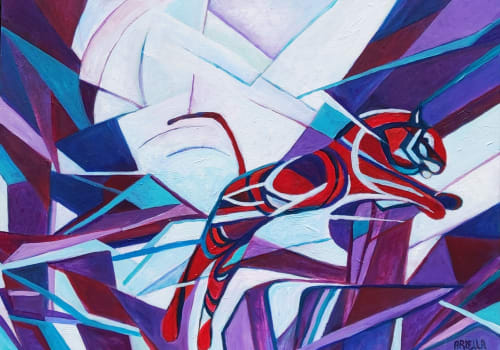 Paintings by Ariella Charny seen at Private Residence, Tel Aviv-Yafo - Trapped, Free