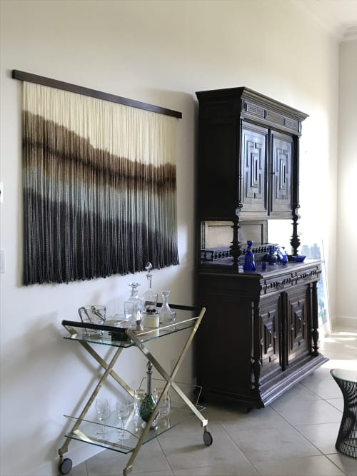 "Macrame Wall Hanging by Vita Boheme Studio seen at Private Residence, Palm Beach Gardens - ""Shoreline"""