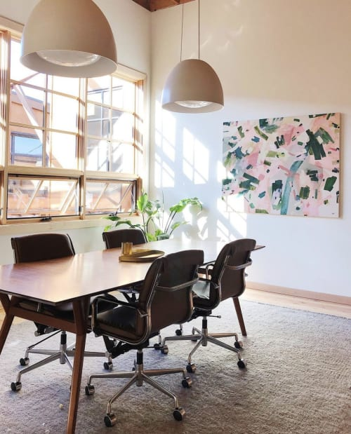 """Paintings by maja dlugolecki at Casework Interior Design, Portland - commission for casework, 48"""" X 60"""""""