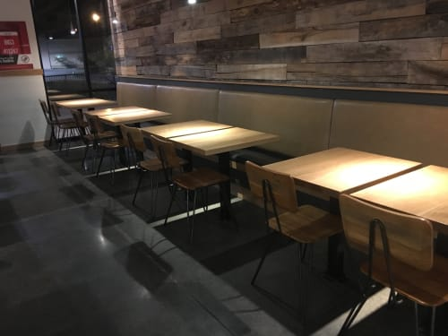 Tables by Rustic Trades Furniture at DosBros Fresh Mexican Grill, Dalton - Dining Tables and Banquets