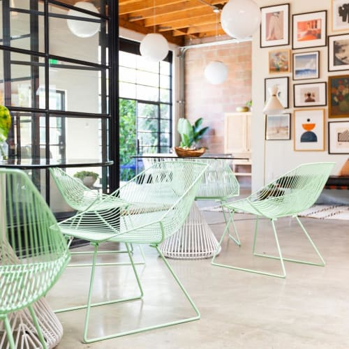 Chairs by Bend Goods seen at Hutch, Los Angeles - Bunny Lounge