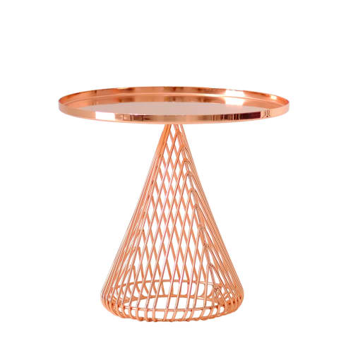 Tables by Bend Goods seen at Creator's Studio, Los Angeles - Conical Side Table - Copper