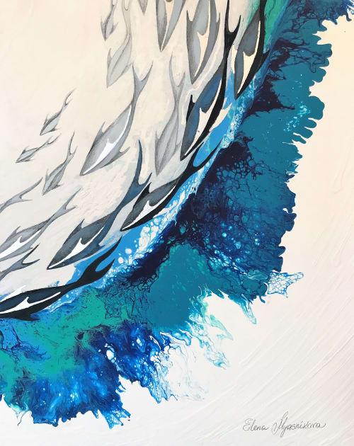 Paintings by Elena Myasnikova seen at Private Residence, Calgary - Elena Xu
