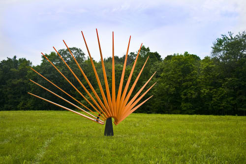 """Architecture by Tom Holmes seen at Private Residence, Hilton Head Island - Public Art Commission , """"Setting Sun"""""""