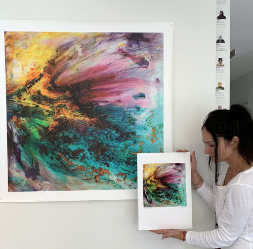 Paintings by Alejandra Sieder seen at New South Wales - Behind the Air
