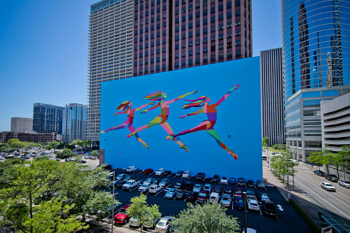 Murals by C. FInley seen at Wedge International Tower, Houston - Houston SKYDANCE