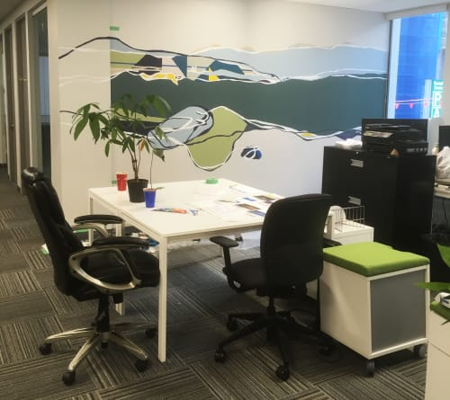 Murals by Marlene Lowden seen at The PROFILE Coworking Business Club - Vancouver, Vancouver - The Profile Office Mural