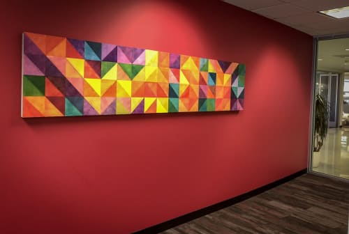 """Paintings by Open Eye Art seen at Ruby Receptionists, Portland - Ruby Receptionist's """" You are the WHY"""" project"""
