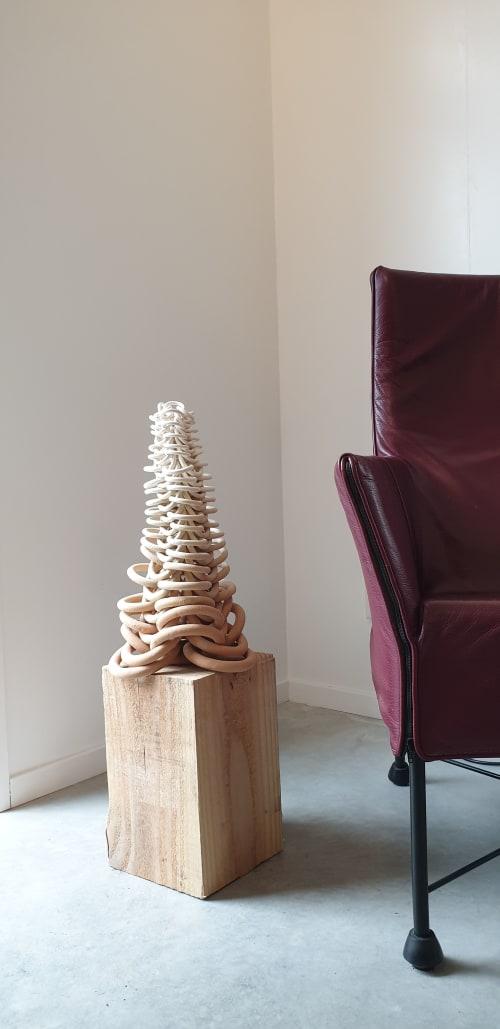 Sculptures by Cecil Kemperink seen at Creator's Studio, Den Burg - Rhythm terra Large