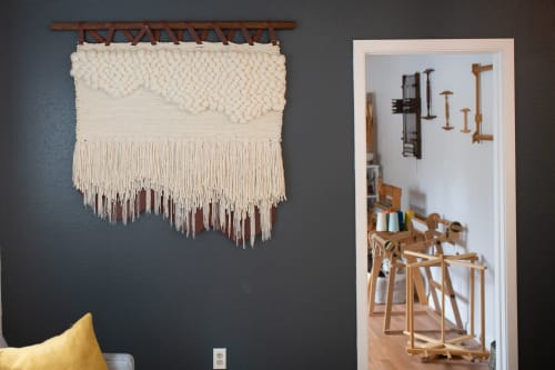 Wall Hangings by Keyaiira | leather + fiber seen at Dr. Michael Cantwell MD, San Francisco - Tindall