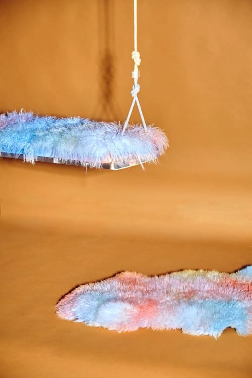Benches & Ottomans by Gabriela Noelle seen at Private Residence, Miami - Cotton Candy Swing