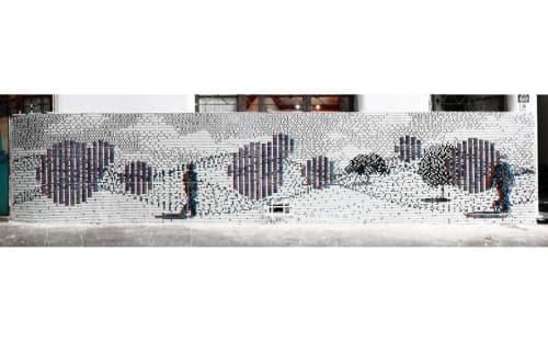 Public Mosaics by Pixel Art seen at Santo Domingo 588, Santiago - Fragment