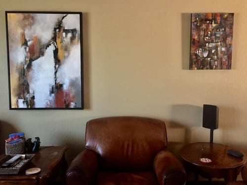 Paintings by Laurie DeVault Fine Art seen at Private Residence, Martinez - Merge and Flow and Once Upon a Dream