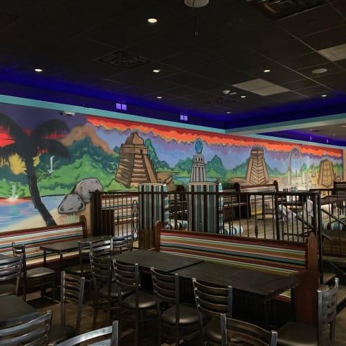 Murals by Hugus seen at Gran Rancho Jubilee, Massapequa - Mural