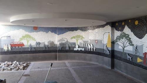Hospital entrance Mosaic | Public Mosaics by Julian Phillips Mosaic