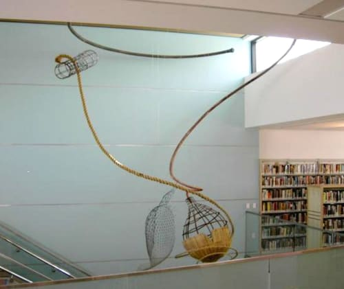 Art & Wall Decor by Gina Telcocci seen at Potrero Branch Library, San Francisco - Here and Past Here
