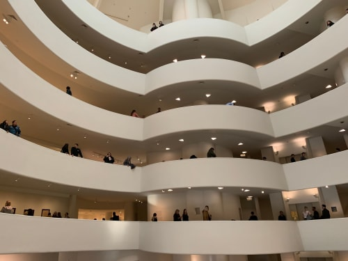 Architecture by Frank Lloyd Wright seen at Solomon R. Guggenheim Museum, New York - Solomon R. Guggenheim Museum Design