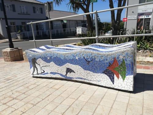 Public Mosaics by Julian Phillips Mosaic seen at Mossel Bay, Mossel Bay - PUBLIC MOSAIC BENCH