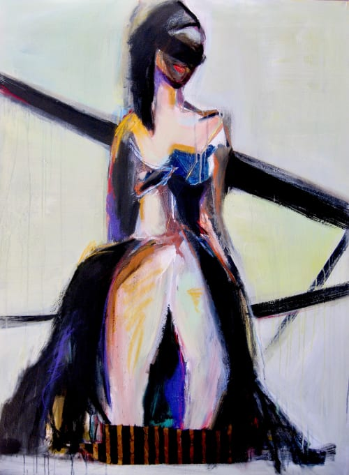 Paintings by Ellen Dieter seen at Private Residence - Contrary Direction