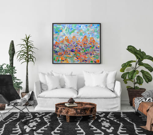 Paintings by Jvilla Art seen at Private Residence, Melbourne - Hanging Rock - Rhythm