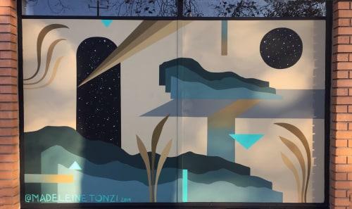 Murals by Madeleine Tonzi seen at 4228 Telegraph Ave, Oakland - Mural for Huaraches x Brand