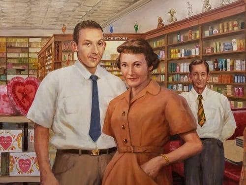Murals by Don Gray Studio seen at Alva, Alva - Monfort Drug Store, circa 1950